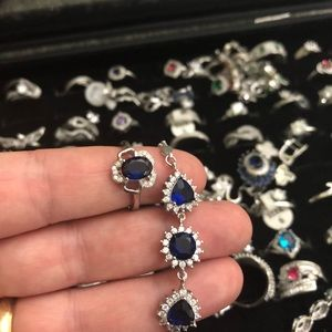 925 stamped sterling silver sapphire bracelet